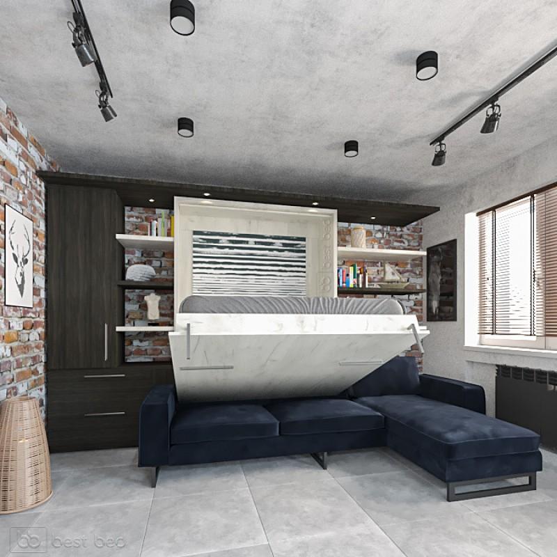 Шкаф-кровать с угловым диваном