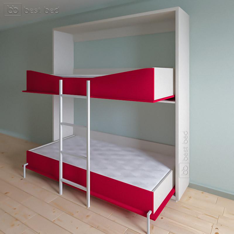 Шкаф кровать горизонтальная (двухъярусная)